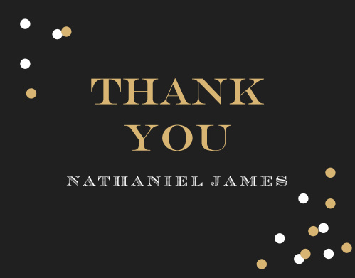 Our Festive Type Adult Birthday Thank You Cards are classy, elegant, and are able to show your appreciation in style.