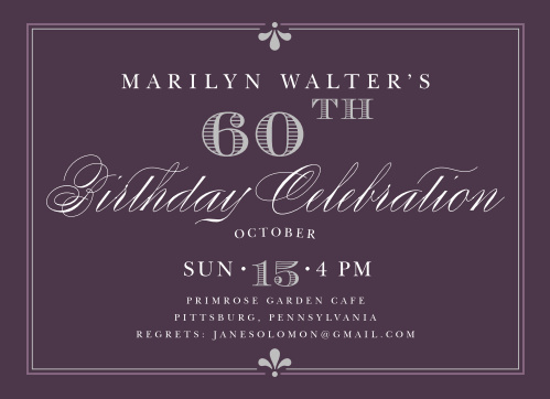 Our Classy Affair Adult Birthday Party Invitations are the epitome of elegance.