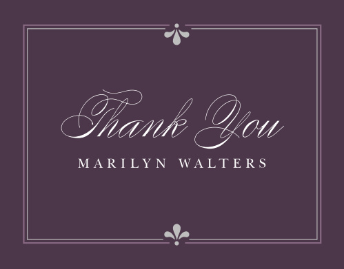 Birthday thank you cards match your color style free basic invite classy affair adult birthday thank you cards filmwisefo