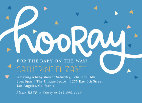 Our Big Hooray Baby Shower Invitations bring the celebration.