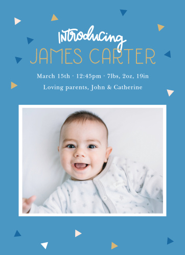 Our Big Hooray Birth Announcements bring the celebration.