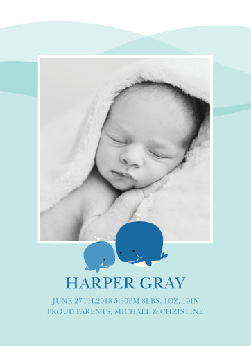 Our Whale of a Time Birth Announcements are too cute to resist!
