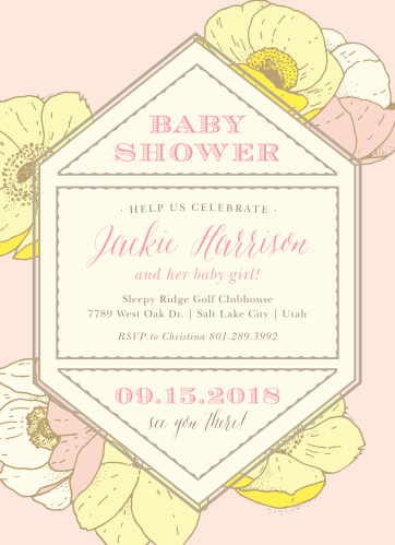 Floral baby shower invitations match your color style free vintage blossoms baby shower invitations filmwisefo