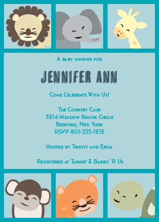 This baby shower invite is full of all sorts of personality! Whether you're having a girl or a boy, you can customize this card accordingly.