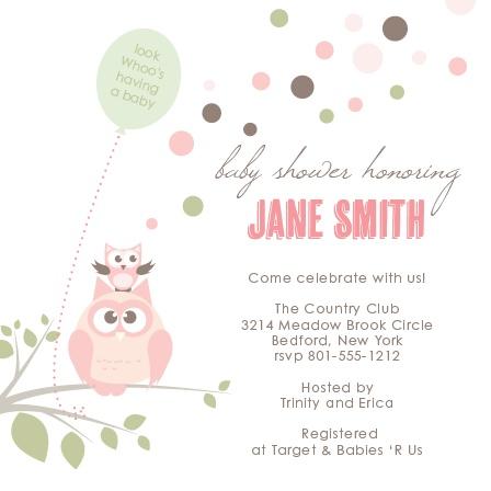 Owl Balloon Baby Shower Invitations