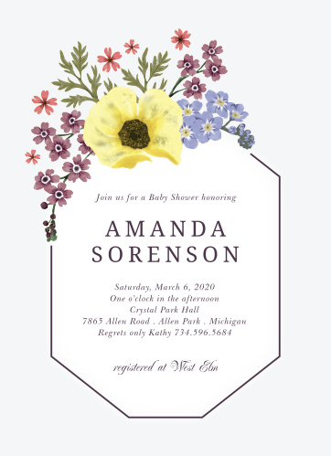 Our elegant Garden Dreams Baby Shower Invitations are an excellent way to send the great news.