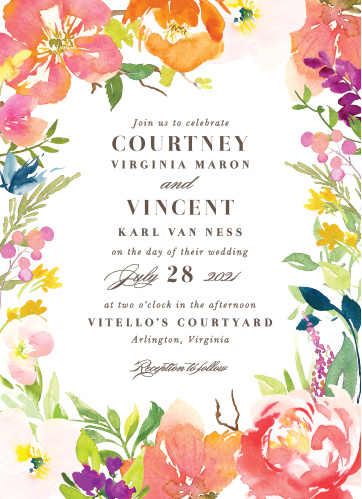 Your guests will adore the Colorful Garden Wedding Invitations once they receive them.