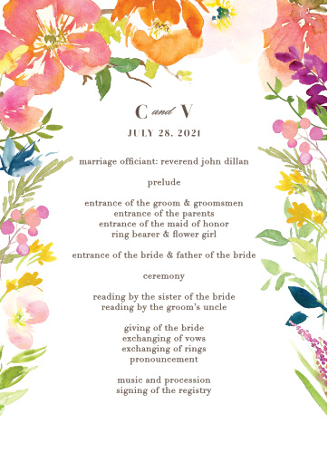 Your guests will adore the Colorful Garden Wedding Programs.