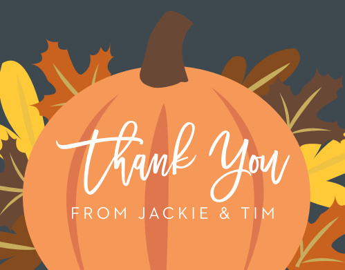 Our Little Pumpkin Baby Shower Thank You Cards are perfect for your autumn baby shower!