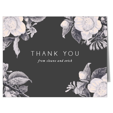 Our Vintage Mood Wedding Thank You Cards Cards feature an antique design with modern touches!