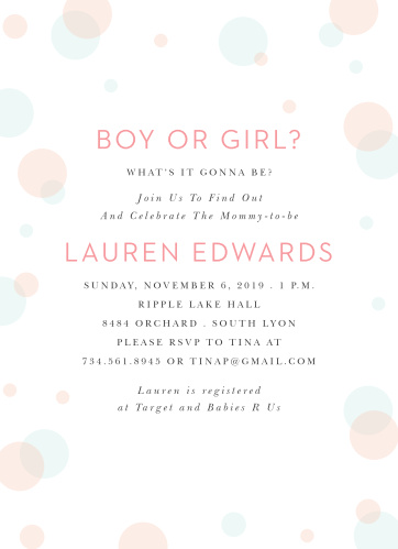 polka dots baby shower invitations match your color style free