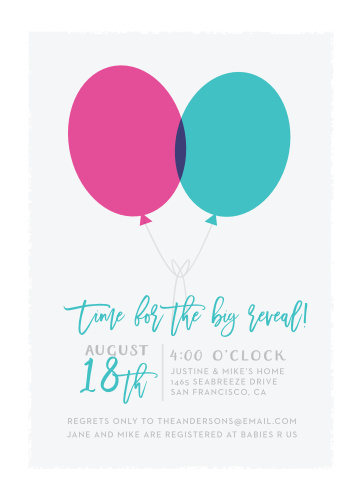 Enjoy the company of your friends and family when you use our Pink or Blue Baby Shower Invitations to invite them.