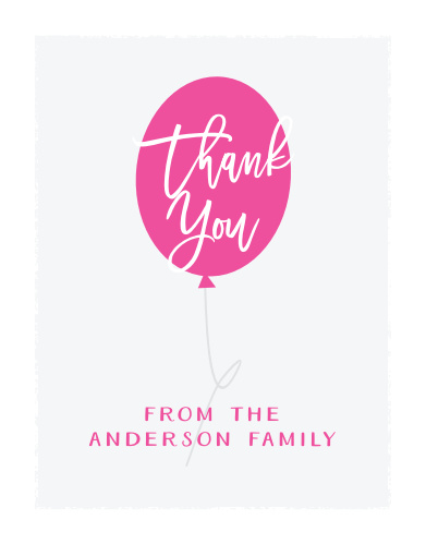 Show your appreciation to your baby shower guests with our Pink or Blue Baby Shower Thank You Cards.