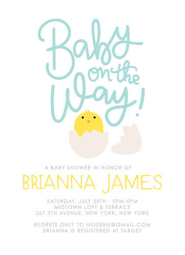Spring baby shower invitations match your color style free ready to hatch baby shower invitations filmwisefo