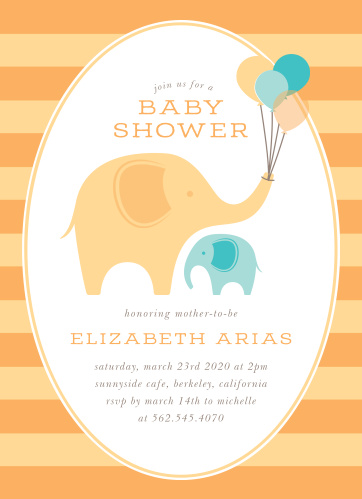 Elephant baby shower invitations match your color style free little elephant baby shower invitations filmwisefo
