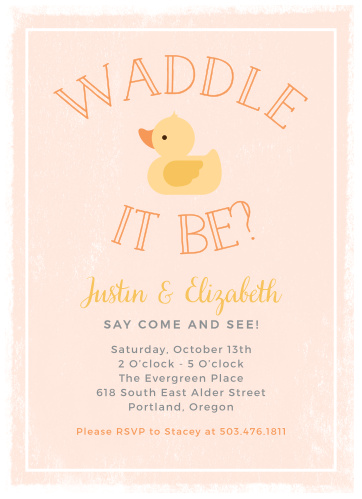 Duck baby shower invitations match your color style free little duck baby shower invitations stopboris Image collections