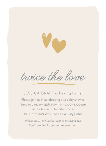 Baby shower invitations for twins basic invite twice the love baby shower invitations filmwisefo