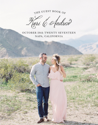 The Timeless Script Guest Book uses your gorgeous engagement photo as the front cover, guaranteeing to melt your guest's heart as they go to sign it.