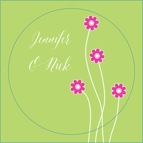The Tiny Daisies logo square is the perfect finishing touch for this or any wedding invitation set.