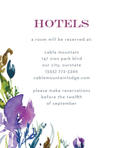 Treat your loved ones traveling from afar with our stunning Lavender Blooms Accommodation Cards.