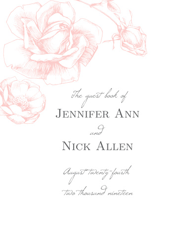 Our gorgeous Illustrated Rose Guest Book is a perfect addition to your perfect day.