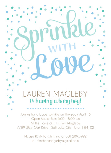 Sprinkle baby shower invitations match your color style free sprinkle with love baby shower invitations filmwisefo