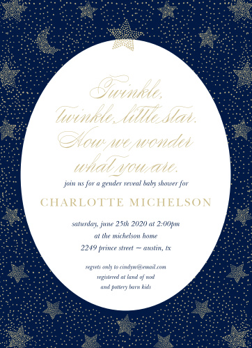 Our Twinkling Star Baby Shower Invitations are a dream come true.