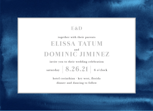 Enjoy the company of your friends and family when you use our Indigo Watercolor Wedding Invitations to invite them.