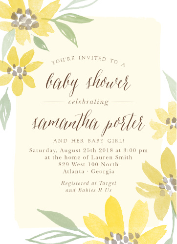 Send out a ray of sunshine with our Sunflower Summer Baby Shower Invitations.