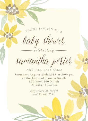 Baby shower invitations for girls basic invite sunflower summer baby shower invitations filmwisefo