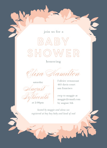 Our Pink Bouquet Birth Announcements are designed with your shower in mind.