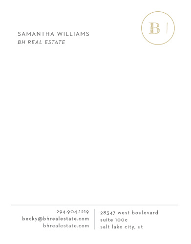 Our Realtor Monogram Business Stationery is far from average.