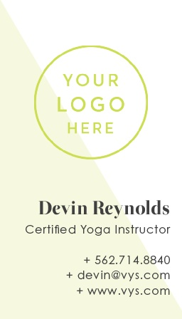 Our Yoga Studio Logo Business Cards are as clean and modern as your studio.
