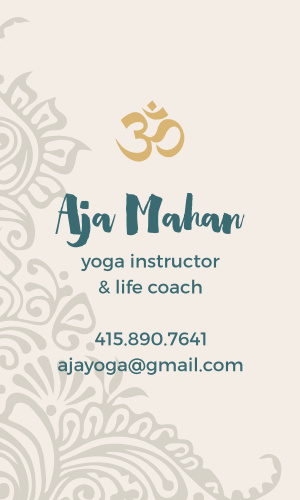 Yoga business cards match your color style free yoga instructor business cards colourmoves