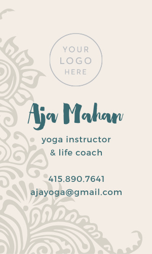 Share your passion for your craft and your students with our Yoga Instructor Logo Business Cards.