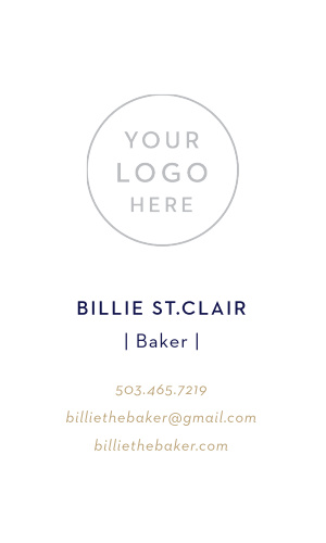 Customize our simple Cute Cakes Business Cards to warm the hearts of your future customers.
