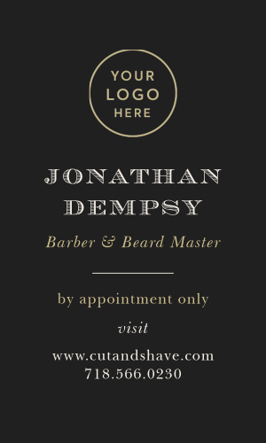 Any barber can stand out with our classy, whimsical Mustache Barber Logo Business Card.