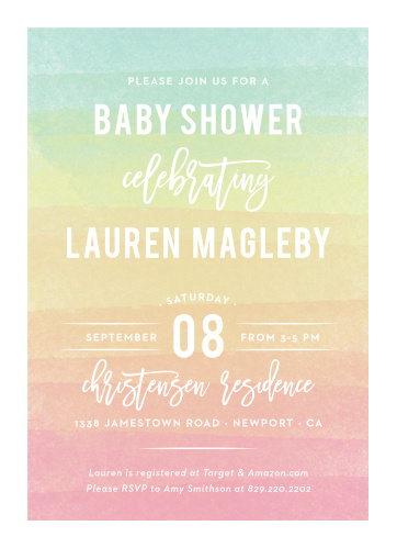 Gender neutral baby shower invitations match your color style free rainbow wash baby shower invitations filmwisefo