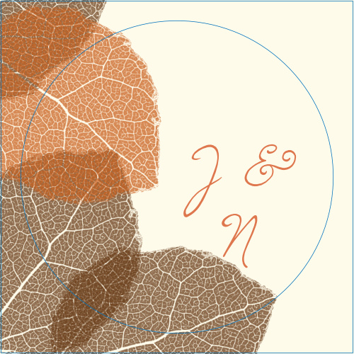 The Autumn Leaves logo square is the perfect finishing touch for this or any wedding invitation set.