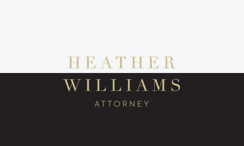 The letter of the law is as black and white as our Classic Attorney Business Cards- and with your name straddling the center in a shining gold-foil, your clients will immediately recognize who walks that line for them.