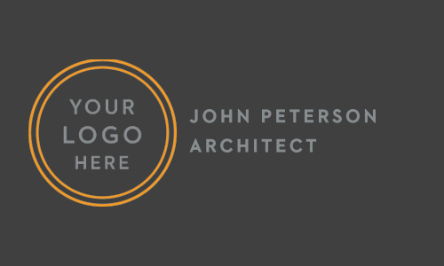 Our House Architect Logo Business Cards features a minimalist approach and a place for your logo.