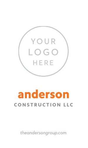 Our stunningly simple Building Contractor Logo Business Cards give your clients a glimpse of what could be, both in terms of their ideas and your own working relationship together.