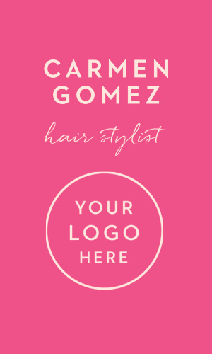 Show your vibrant love for your profession of a hairdresser with the tools that help you do it best with our Hair Stylist Logo Business Cards.