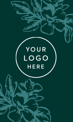 Our Designer Flowers Logo Business Cards frame your logo with gorgeous hand-drawn flowers to ensure a memorable impression for any client.
