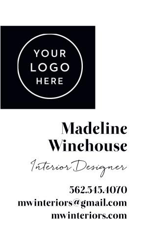 Interior Designer Logo Business Cards is designed with your logo in mind.