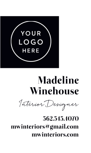 Interior Designer Logo Business Cards is designed with your logo in mind.