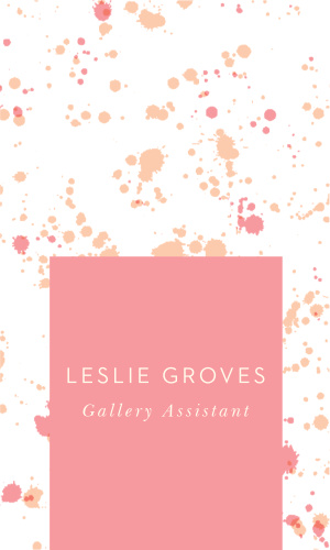 If you are looking for a creative flair for your business cards, look no further then our portrait-oriented Artist Paint Business Card.