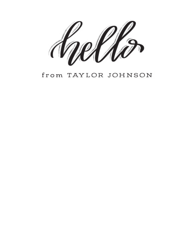 Our Creative Lettering Business Stationery offers a friendly, but still professional, glimpse at your business.