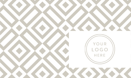 Featuring the same stunning design as our Geometric Pattern Business Cards, but this time with space for your company's professional logo, these cards are perfect for building your client base.