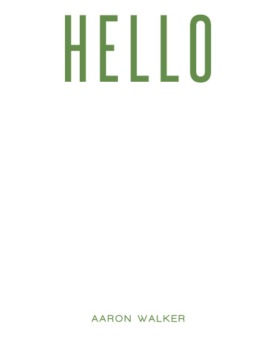 Greet your current and potential clients with our Modern Hello Business Stationery.